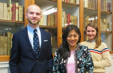 From left to right: Luke Kelly (Harvard College '19), Khin-Kyemon Aung (HMS/HBS '20), and Angela Wheeler (GSD)