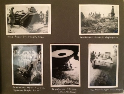 photos of battlefields in WWII.