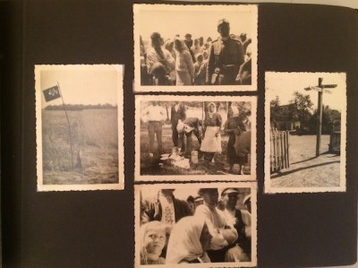 Photos of villagers and meadows, Ukraine, WWII