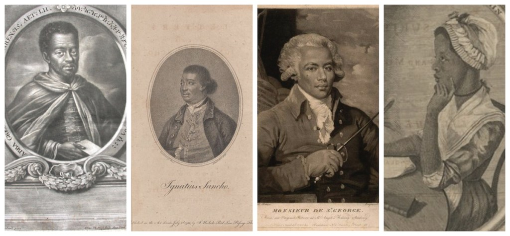 Four portraits documenting early black lives.