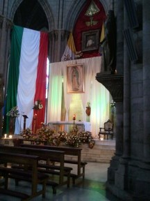 Catholicism is one of the biggest religions in Ecuador and all of Latin America (Inside la basílica)