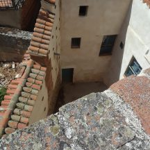 A view of a street corner from the ancient wall of Avila.