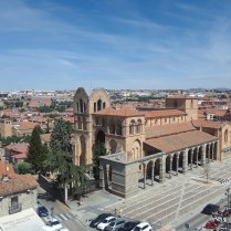 A view of Avila's Basilica of San Vicente and its surrounding areas.
