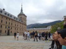 A grand view of one of El Escorial's facades.