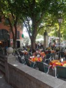We stumbled upon a cute restaurant in San Lorenzo with a tree canopy.