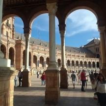 The Plaza de Espana in Seville.