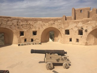 Cannon ready for battle in one of the towers