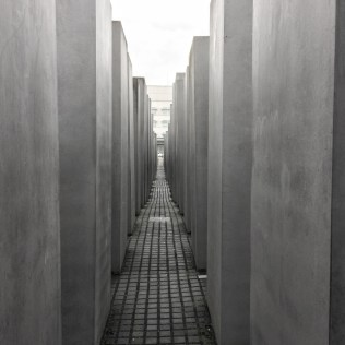 The Memorial to the Murdered Jews of Europe in Berlin. A cement labyrinth in the heart of the city.