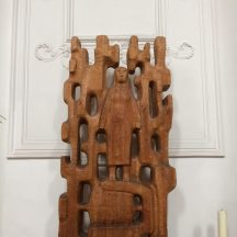 This woodcarving is in the University Church and might be depicting Jesus.