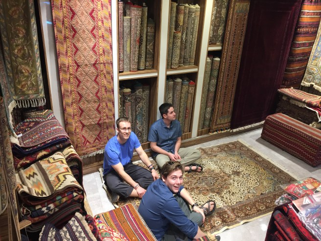 Ben, David and Danny on the first day we met Shah