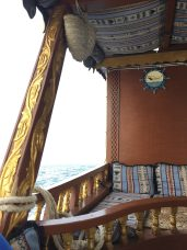Cozy spot on deck