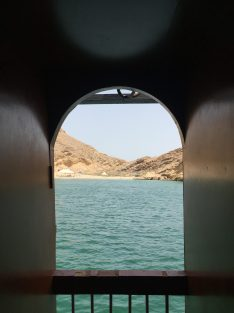 View from the back of the boat