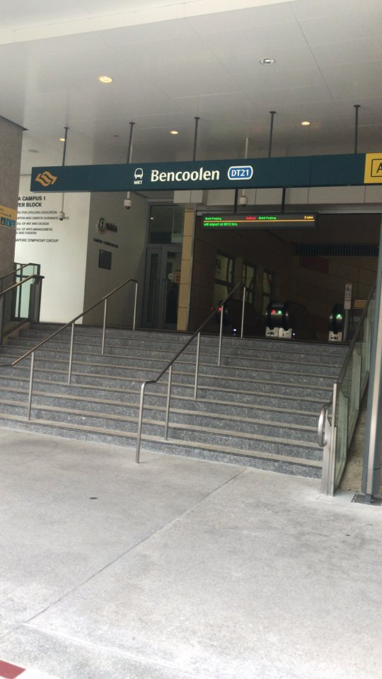 The MRT entrance to the blue line -- it goes anywhere and everywhere