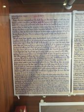 Hand written pages of Mandela's autobiography