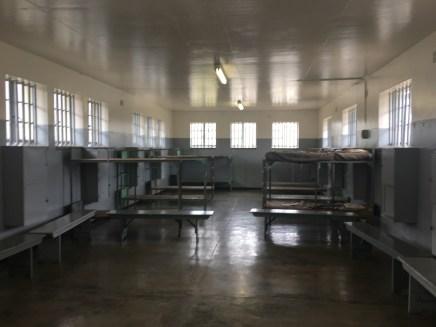 A prison bunkroom
