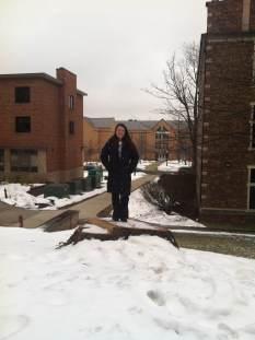 Me on the Giant Tree's stump.