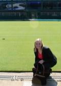 Pulling grass at Wimbledon