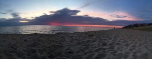 Sunset over Lake MI