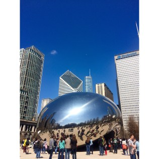 Obviously we had to stop at The Bean in Millennium Park...it's a must for tourists.