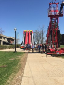 Zip line and Inflatable Slide