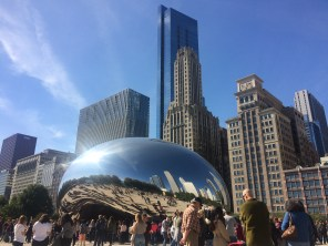 First, we went to Millennium Park. It was a perfect day for it - upper 60s and gorgeously sunny.