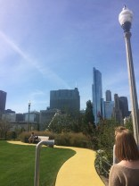 Then we went to the Maggie Daley Park that opened recently across the highway from Millennium Park.