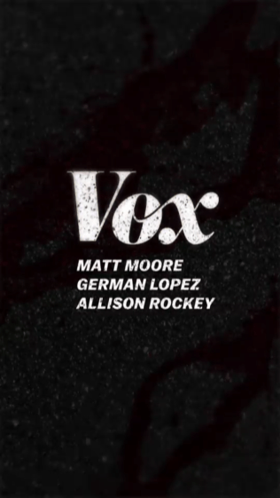 Vox news site credit screen for snapchat