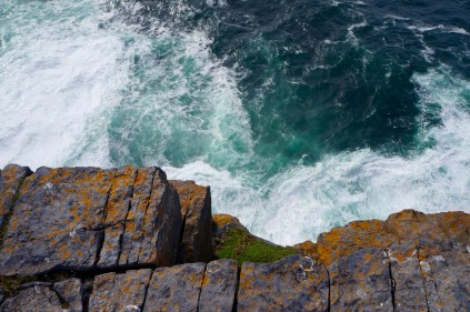 There were no guard rails at the mini-cliffs and it was a straight drop to the ocean. It was exhilarating!