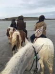 Walking along the beach on our horses was a dream come true.