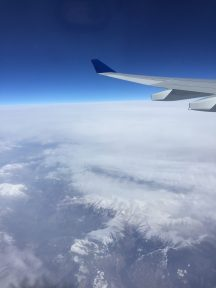 Plane flying above Alps