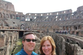 We had a beautiful sunny day to visit the Colosseum!