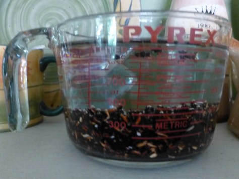 black rice, set to soak