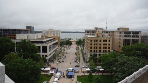 Looking south toward the Monona Terrace