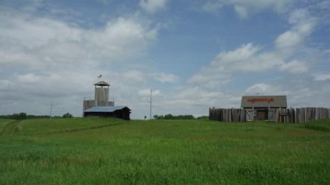 Replica; territorial fort.