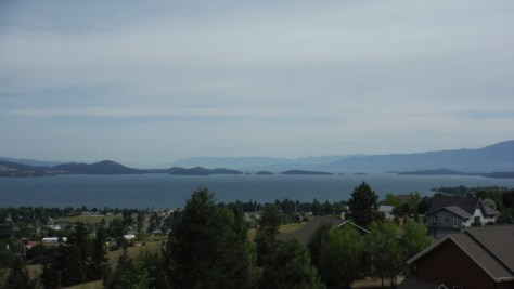 Flathead Lake, from Skyline Drive, Polson.