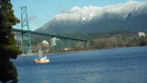 Lions Gate Bridge, from Stanley Park, Vancouver, BC