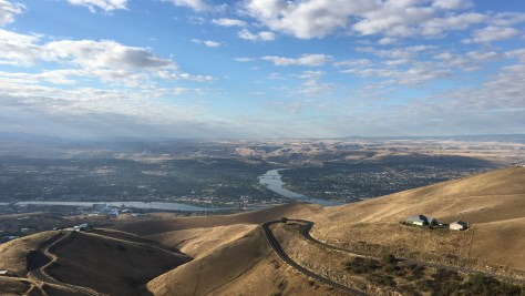 Lewiston, ID - Clarkston, WA, at the confluence of the Clearwater and Snake Rivers.