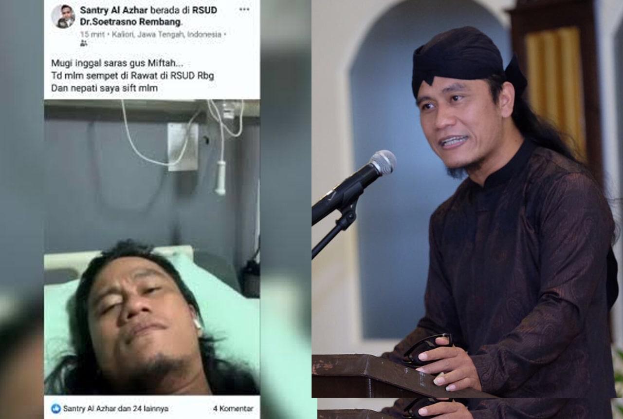 Gus Miftah terpaksa dirawat di RSUD Rembang