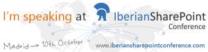 Speaking en la Iberian SharePoint Conference