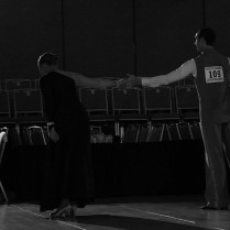 JCCC's own Kendra Michaels takes a humble bow after an amazing performance. Michaels dance partner Johnny Francoviglia, placed 2nd three times, 3rd six times and 2nd in the scholarship round.