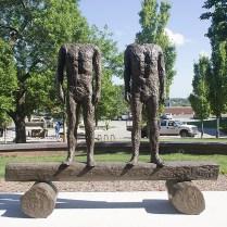 """Two on Beam,"" Magdalena Abakanowicz, 1997. North of OCB."