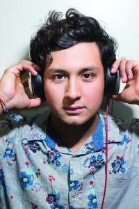 JCCC student and aspiring DJ Christian Romero poses for a portrait on September 25th. Romero is currently working on not only his own music, but also becoming a more versatile artist to deejay in clubs and for other events.