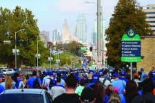 Dedicated Royals fans walk for miles to attend the ceremony. Photo by Lance Martin.