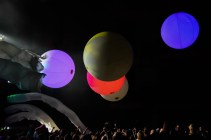 The crowd becomes part of the performance at the Blue Man Group JCCC Performance, Jan. 22. Photo by Andrew Hartnett.