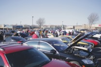 Cars & Coffee drew over 400 cars at their latest event on Feb. 27. Photo by Brent Burford.