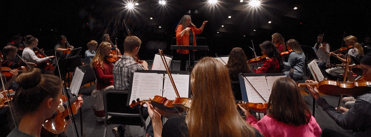 The National Strings Project Consortium holds strings classes at Marywood University.