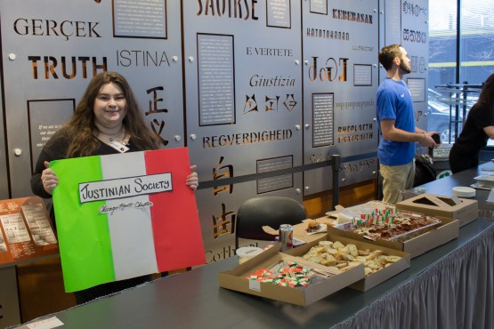 the Justinian Society at the Diversity Week Food Fair