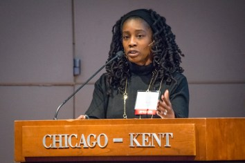 "Erika K. Wilson is the Thomas Willis Lambeth Distinguished Chair in Public Policy & Associate Professor of Law at the University of North Carolina School of Law. She spoke about ""Legal Racism: How Inequalities Created by the Law Can be Eliminated by the Law"" at Chicago-Kent's 4th annual Martin Luther King Jr. Forum on January 24, 2019"