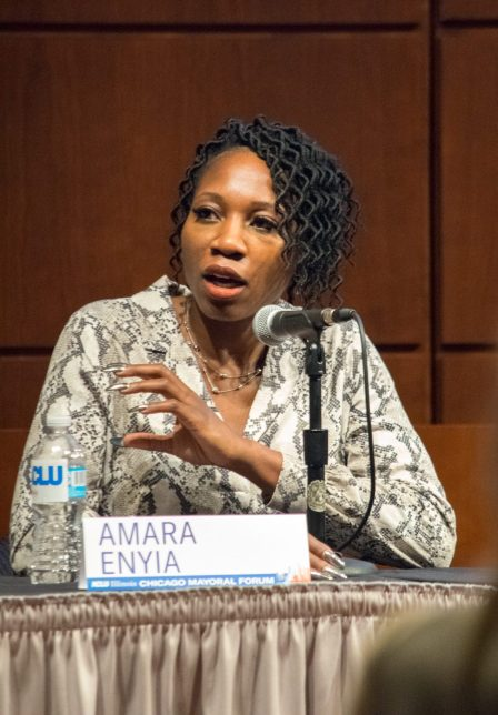 Amara Enyia at ACLU-IL Forum