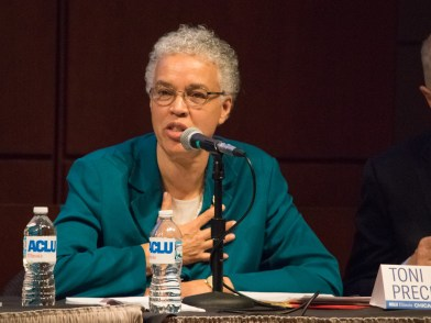 Toni Preckwinkle at ACLU-IL Mayoral Forum